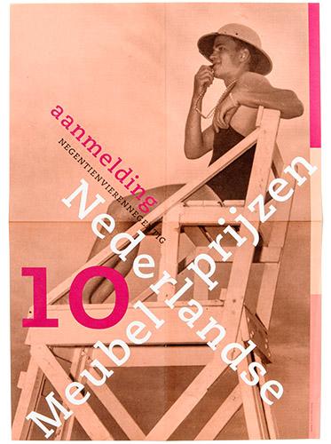 poster voor aanmelding Nederlandse Meubelprijzen 1994