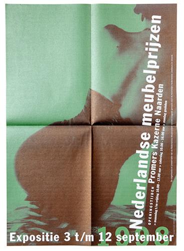 poster voor expositie Nederlandse meubelprijzen 1998