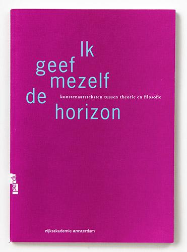 omslag en binnenwerk voor Rijksakademie Amsterdam