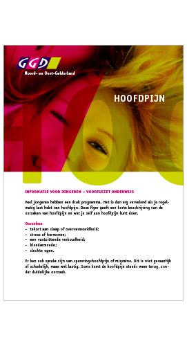 serie flyers GGD Noord- en Oost-Gelderland