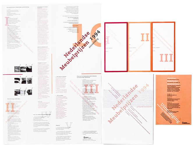 aanmelding, prijswinnaars en uitnodiging Nederlandse Meubelprijzen 1994