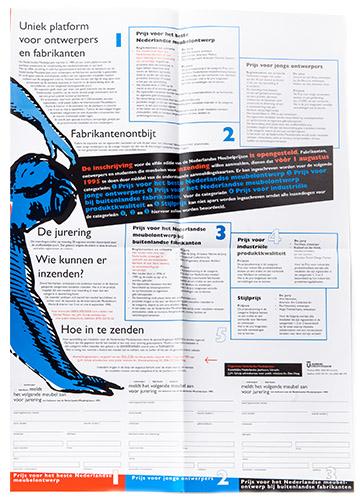 poster voor aanmelding Nederlandse Meubelprijzen 1995