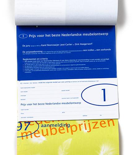 scheurboekje voor aanmelding Nederlandse meubelprijzen 1997
