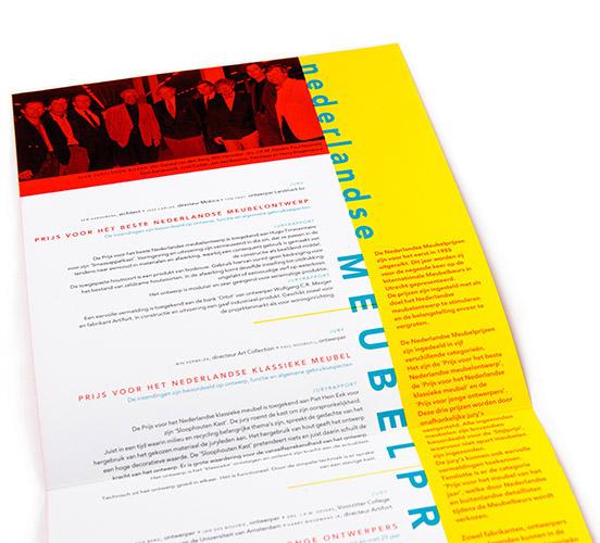 binnenwerk prijswinaarsbrochure Nederlandse Meubelprijzen 1993