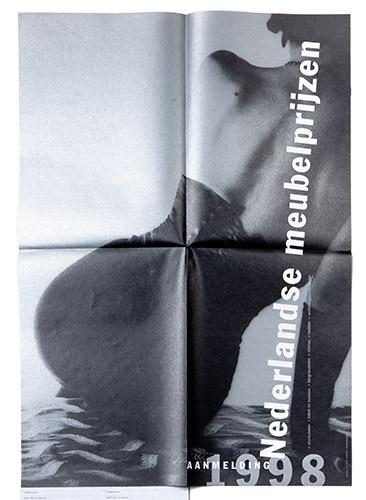 poster voor aanmelding Nederlandse meubelprijzen 1998