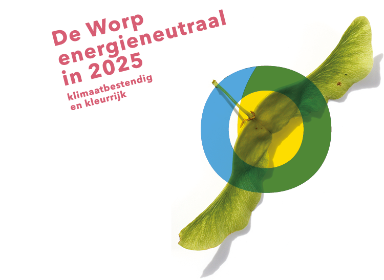 beeldmerk voor buurtinitiatief De Worp energieneutraal in 2025. Deventer stroomt